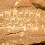 Indian Petroglyph Stock Image